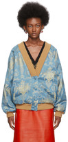 Gucci Blue and Gold Oversized Cardigan