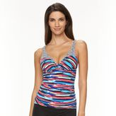 Apt. 9 Women's Brushstroke Striped Tankini Top