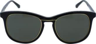 Linda Farrow Black Oval Sunglasses