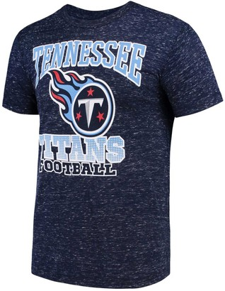 Men's G-III Sports by Carl Banks Navy Tennessee Titans Outfield Speckle T-Shirt