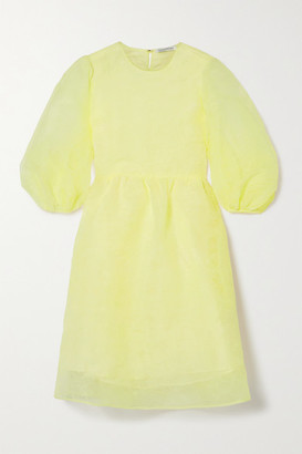 Cecilie Bahnsen Mabel Organza Dress - Pastel yellow