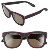 Givenchy Women's 52Mm Cat Eye Sunglasses - Black Rubber/ Brown