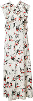 Marni printed ruffle dress - women - Silk - 38