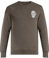 Alexander McQueen Skull-embroidered sweatshirt