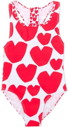 Stella McCartney Heart Print Swimsuit