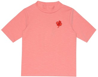 Mini Rodini Clover embroidered T-shirt