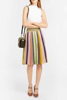 Missoni Pleated Striped Midi Skirt