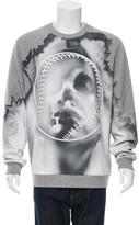 Givenchy Skull Baseball Graphic Sweatshirt