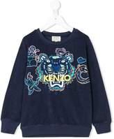 Kenzo logo embroidered towelling sweatshirt