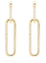 Raphaele Canot Double Ear Link Diamond & 18kt Gold Earrings - Womens - Yellow Gold