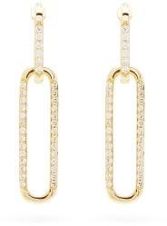Raphaele Canot Double Ear Link Diamond & 18kt Gold Earrings - Yellow Gold