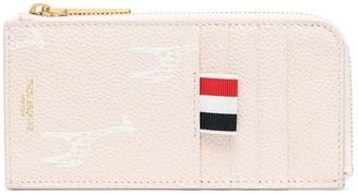 Thom Browne Giraffe-Print Zip Wallet