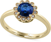 Effy Royal Bleu by Sapphire (1 ct. t.w.) and Diamond Accent Ring in 14k Gold