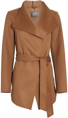 Mackage Azara Wool-Blend Wrap Jacket