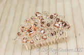 Etsy Blush Bridal Comb Wedding Hair Comb Pink Bridal Comb Bridal Jewelry Blush Pink Rose Gold Comb Blush