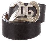 Dolce & Gabbana Leather Logo-Embellished Belt