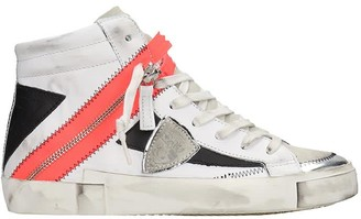 Philippe Model Bike X H Sneakers In White Leather