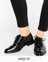 Asos MAKEUP Wide Fit Leather Brogues