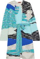 Missoni Intarsia Wool-blend Cardigan - Blue