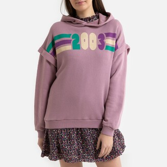 BA&SH Blow Cotton Hoodie with Printed Front