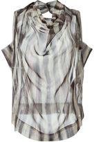 Vivienne Westwood striped cowl neck blouse - women - Silk - 38