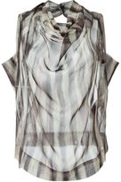 Vivienne Westwood striped cowl neck blouse - women - Silk - 40