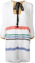 Sonia Rykiel embroidered dress - women - Cotton/Linen/Flax/Polyamide/Polyester - M