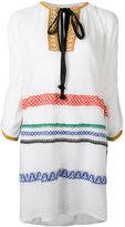 Sonia Rykiel embroidered dress - women - Cotton/Linen/Flax/Polyamide/Polyester - S