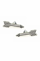 House Of Harlow Antiqued Arrow Stud Earrings in Silver