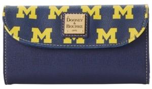 Dooney & Bourke Michigan Wolverines Saffiano Continental Clutch