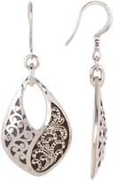 Lois Hill Sterling Silver Granulated Cutout Teardrop Drop Earrings