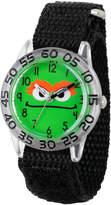 Sesame Street Boys Black And Green Oscar The Grouch Time Teacher Strap Watch W003150