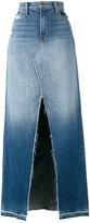 J Brand front slit denim skirt - women - Cotton - 27