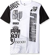 Southpole Men's Short Sleeve Graphic Tee with Solid Sleeves