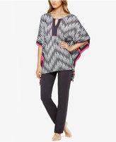 Ellen Tracy Caftan Top and Pants Knit Pajama Set
