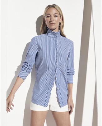 G. Label Bessie Pleat-Collar Button-Down Shirt