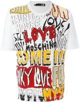 Love Moschino logo multi print T-shirt - men - Cotton - S