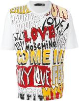 Love Moschino logo multi print T-shirt