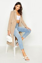 boohoo Megan Tailored Coat camel
