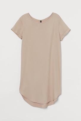 H&M Short T-shirt Dress - Beige