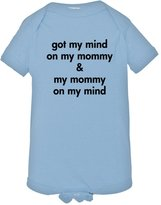 HQ Tees Baby Creeper Got My Mind On My Mommy Infant Body Suit Onsie - 0-6 Months