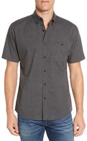 Brixton 'Central' Trim Fit Short Sleeve Chambray Woven Shirt