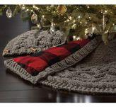 Beekman 1802 Heirloom Holiday Chunky Knit Tree Skirt in Grey