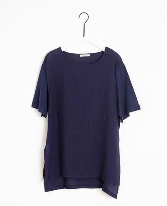 Beaumont Organic Hayley May Organic Cotton Linen Tunic In Midnight - Midnight / Medium
