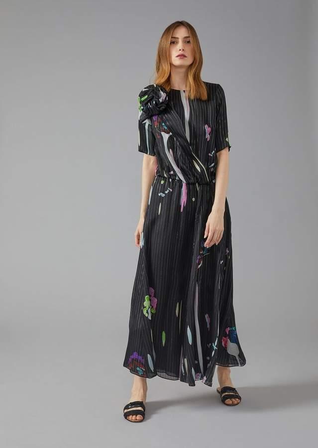Giorgio Armani Screen-Printed Silk Maxi Dress