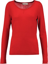 Amanda Wakeley Cutout embroidered cashmere sweater