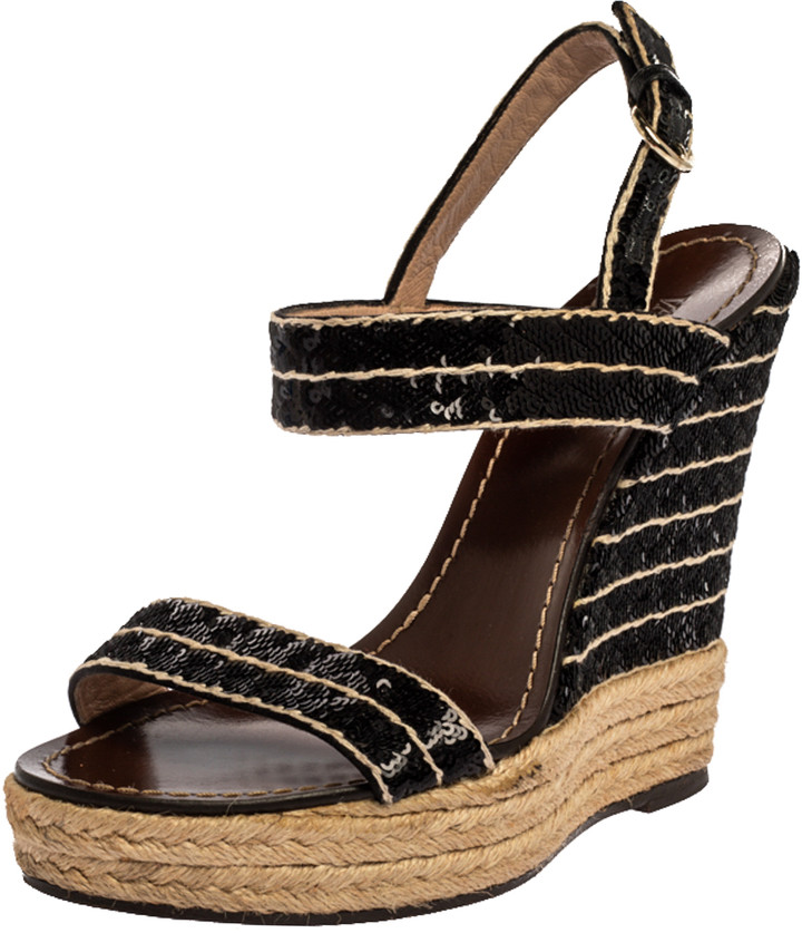 Sequin Wedge Sandals | Shop the world's