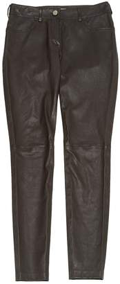 Balenciaga Brown Leather Trousers