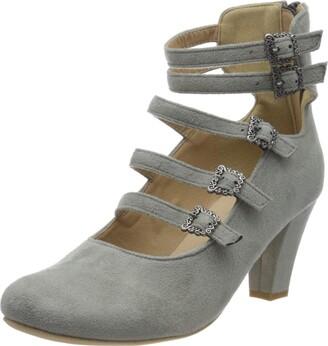 Hirschkogel Womens 3004501 Ankle-Strap Grey Size: 3 UK