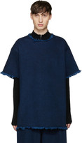 Marques Almeida Indigo Frayed Denim T-Shirt